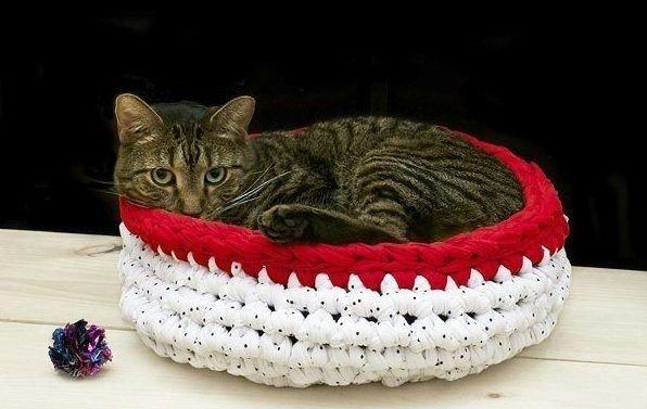 вязаное место для кошки