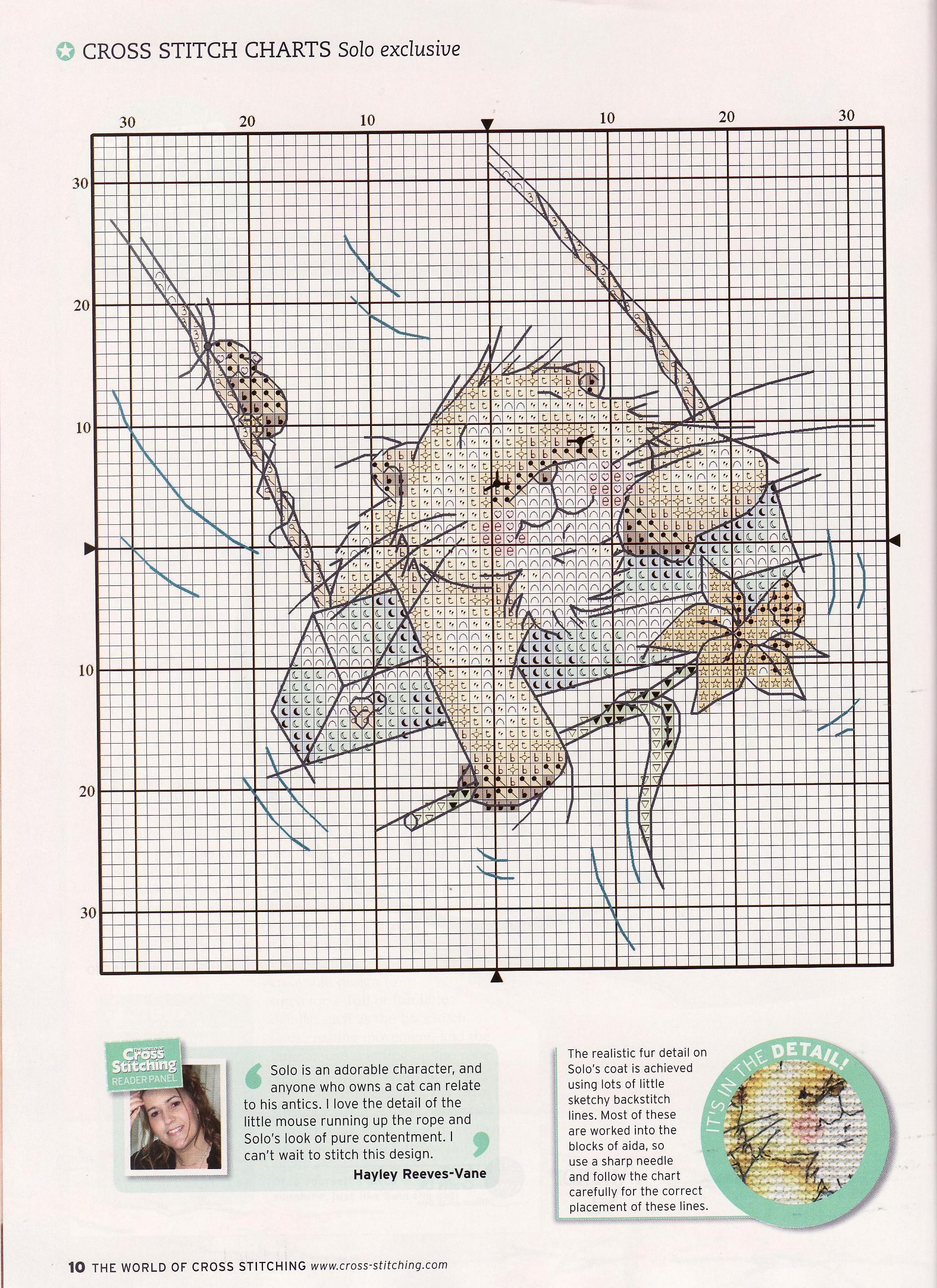 Схема вышивки с котом