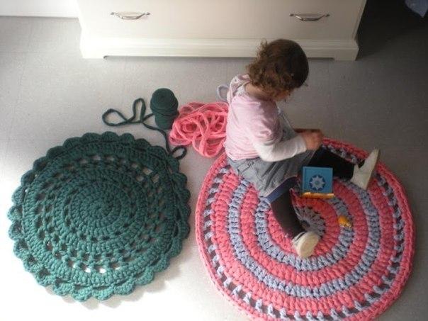 коврик крючком