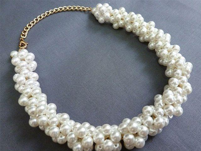 Ожерелье из бусин своими руками мастер класс