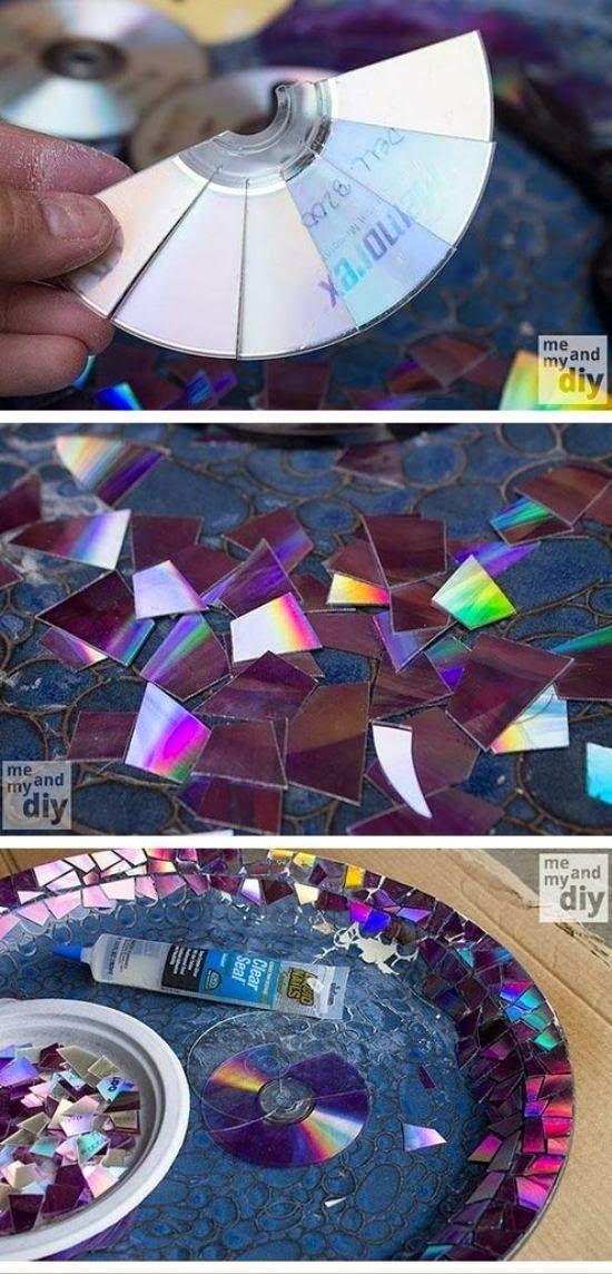 мозаичное блюдо из дисков