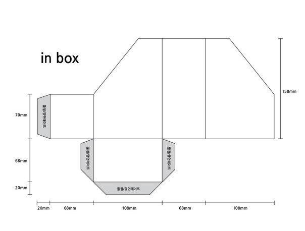 Схема картонной подставки
