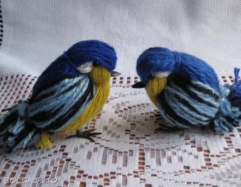птицы из ниток