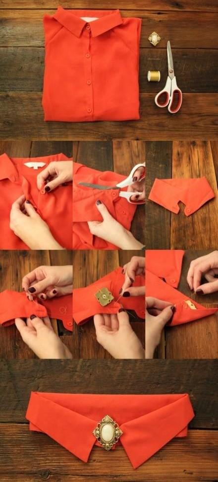 Как сделать воротники из рубашек 121