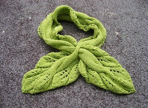 шарф листик