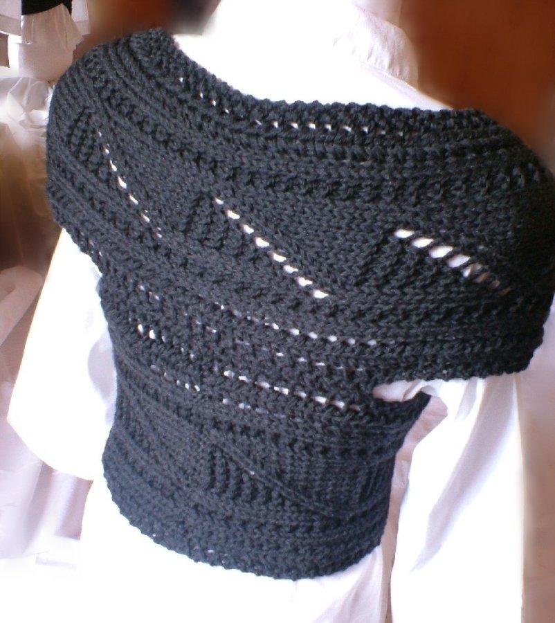 шарф в виде жилета