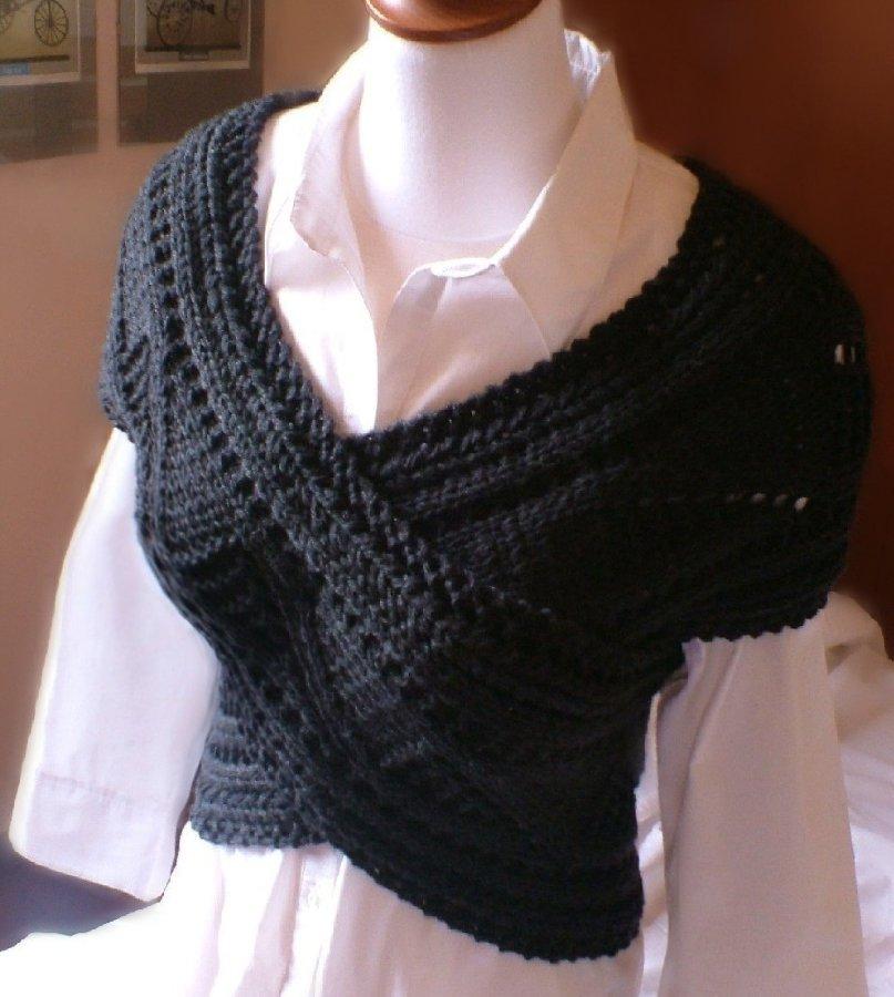 универсальный вязаный шарф