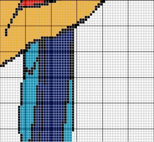 схема бисерной шторки