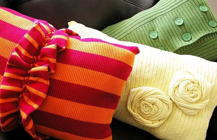 Наволочка из свитера своими руками
