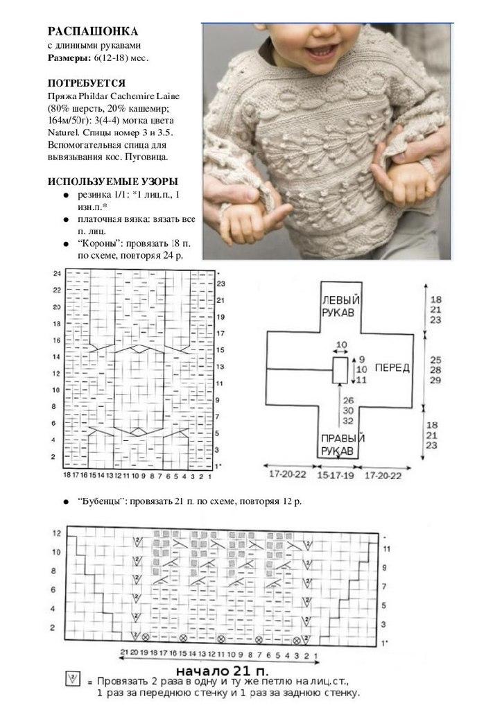 свитер мальчику описание