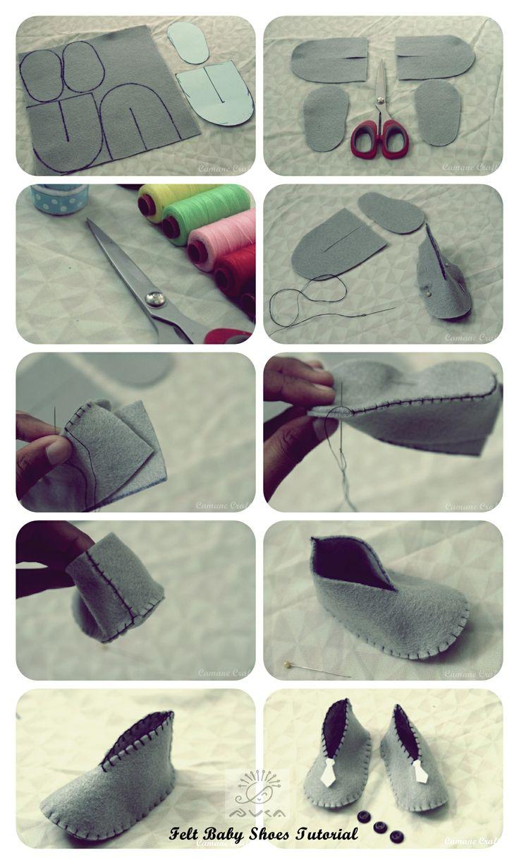 как делать тапочки из фетра