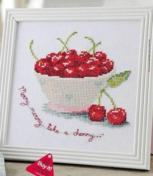Вышивка «Спелые вишни»