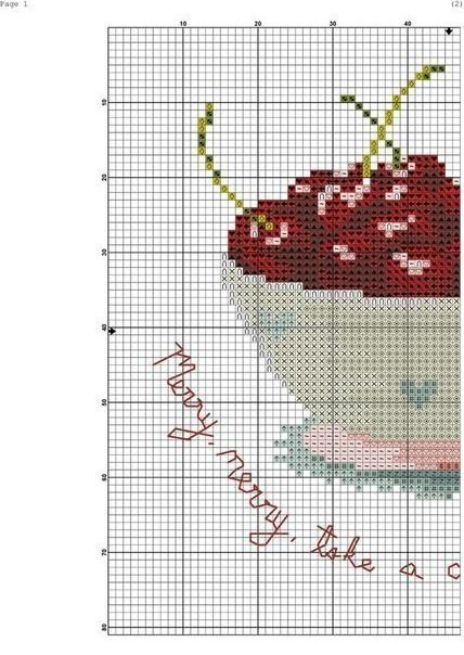 схема вышивки вишен