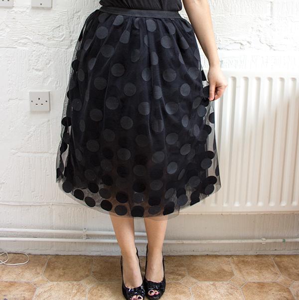 юбка в горошек