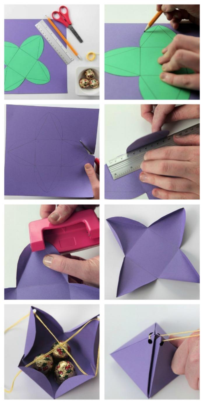 Как сделать коробка для подарок 450