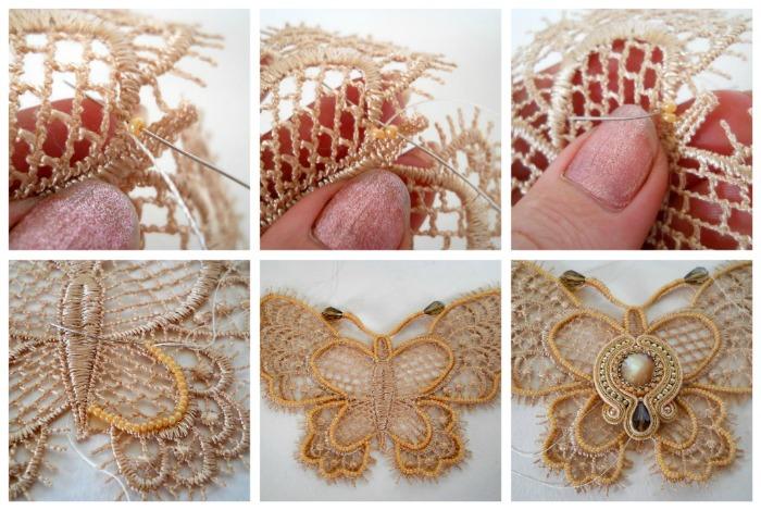 ожерелье в виде бабочки