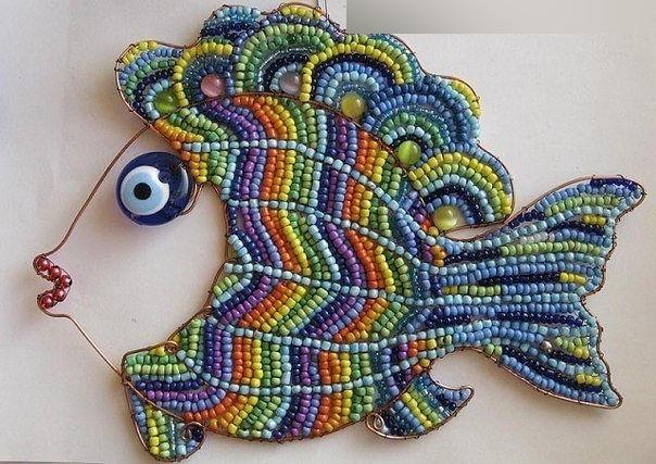 рыба из бисера