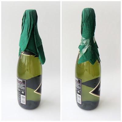 украшение шампанского