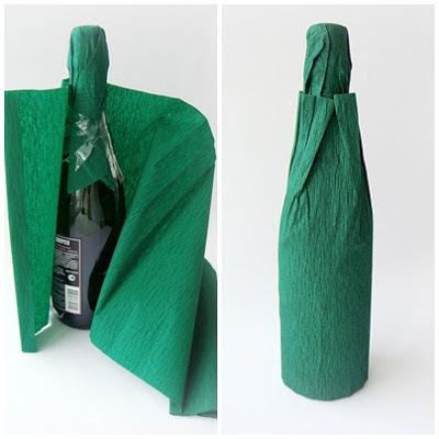 украшение бутылки
