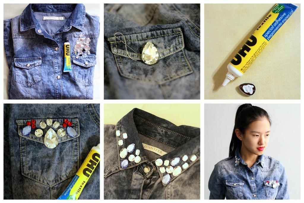 Как обновить джинсовую куртку своими руками 42