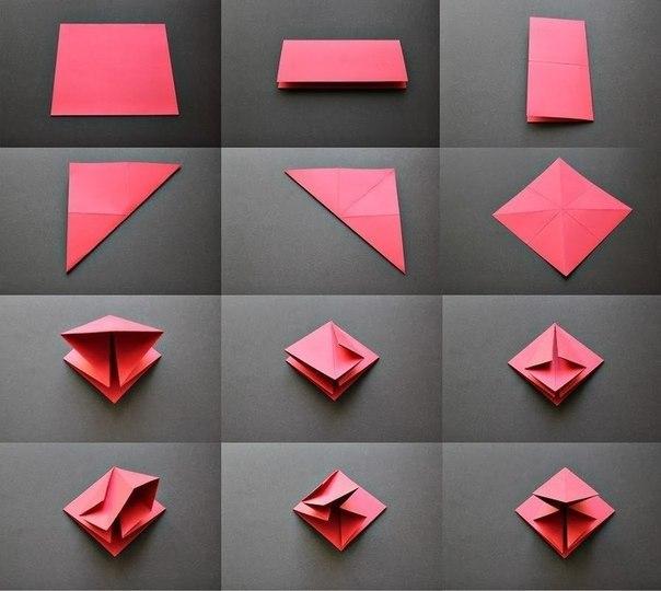бумажная елка оригами