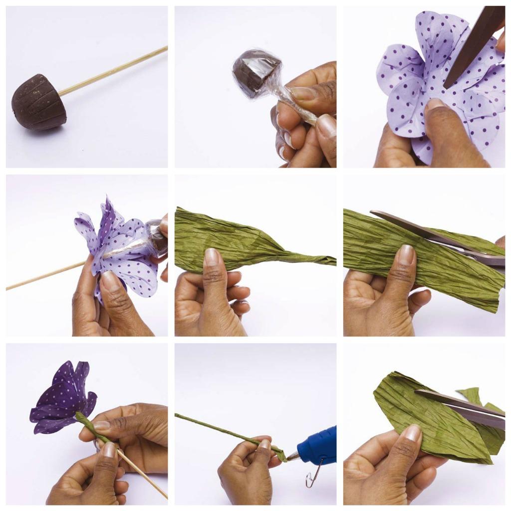 как сделать букет из конфет