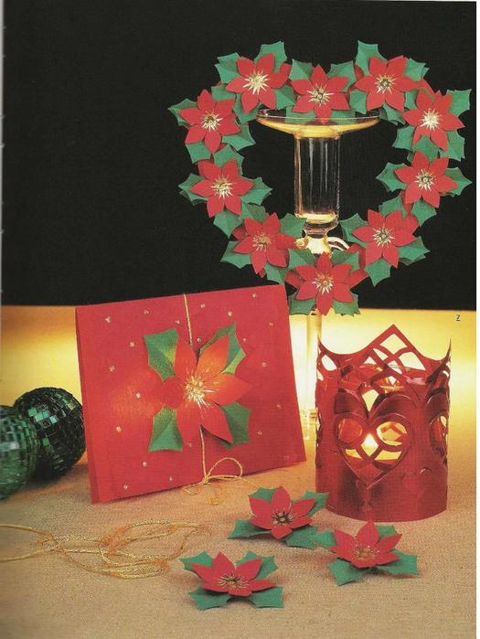 рождественский венок из бумаги