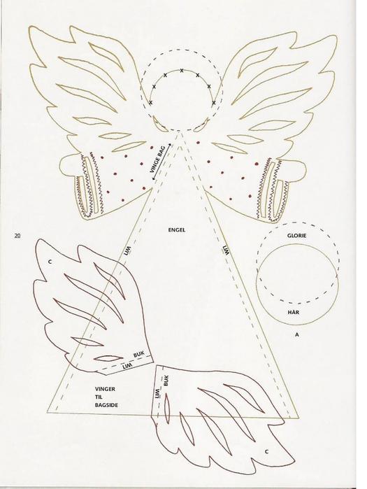 Рождественские ангелы из бумаги своими руками
