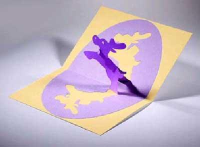 открытка из бумаги