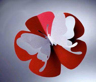 открытка в виде бабочки