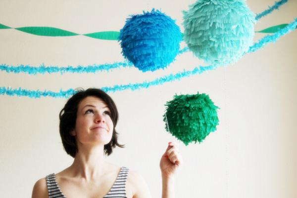 шарики с бахромой
