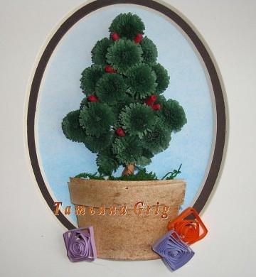 елка квиллинг