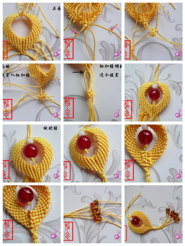 плетеная подвеска