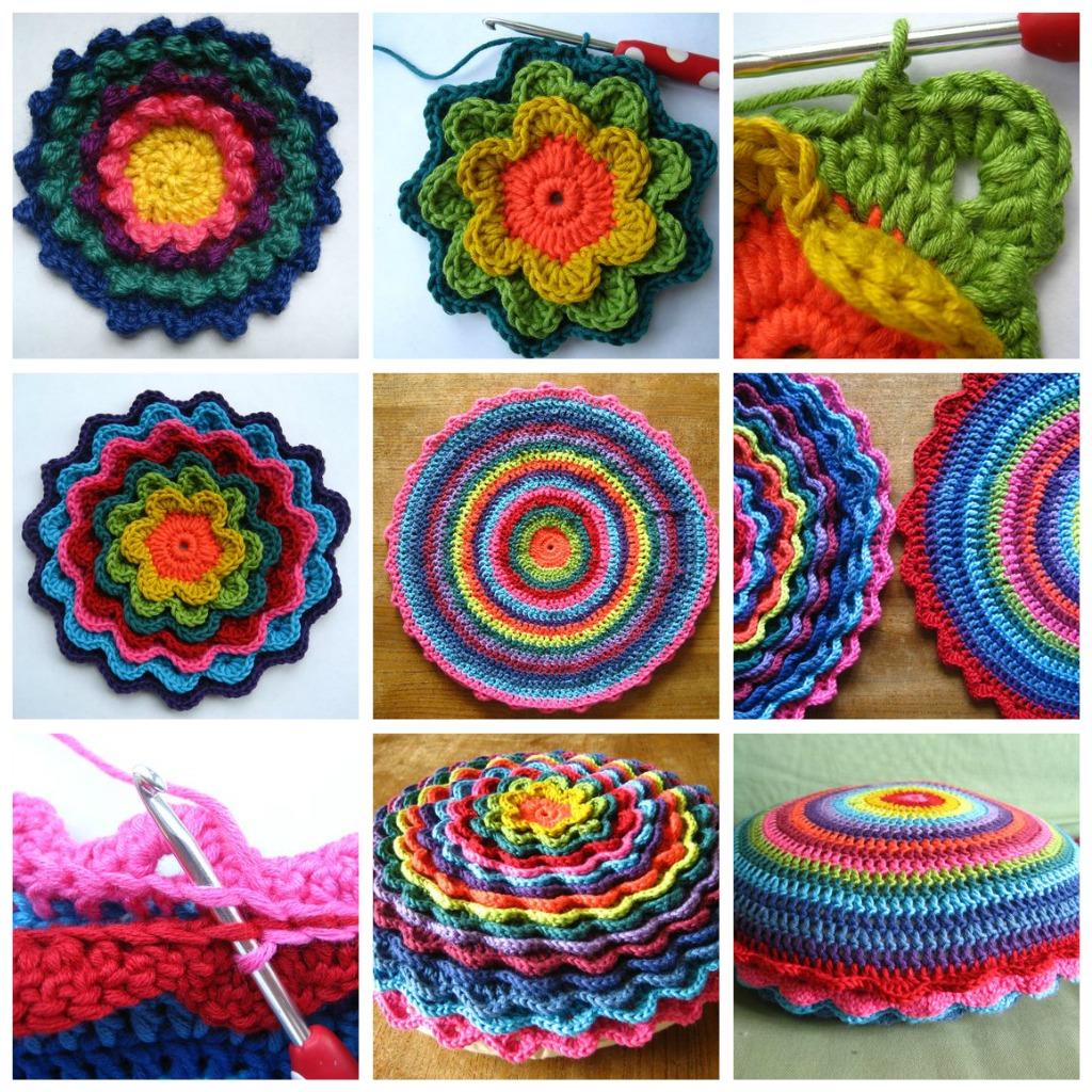 Вязание крючком маленькие подушки 7