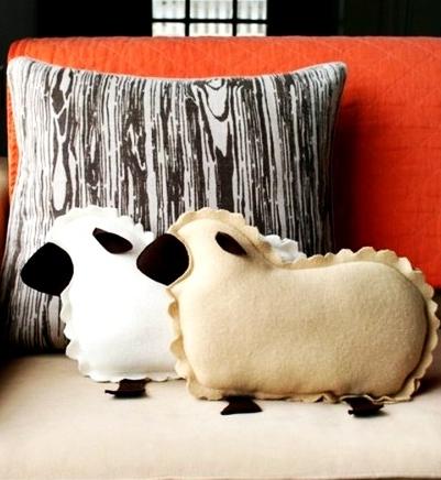 подушки овечки