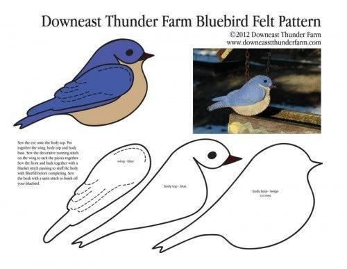 фетровая птичка