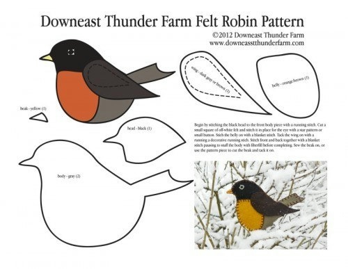 фетровые птички