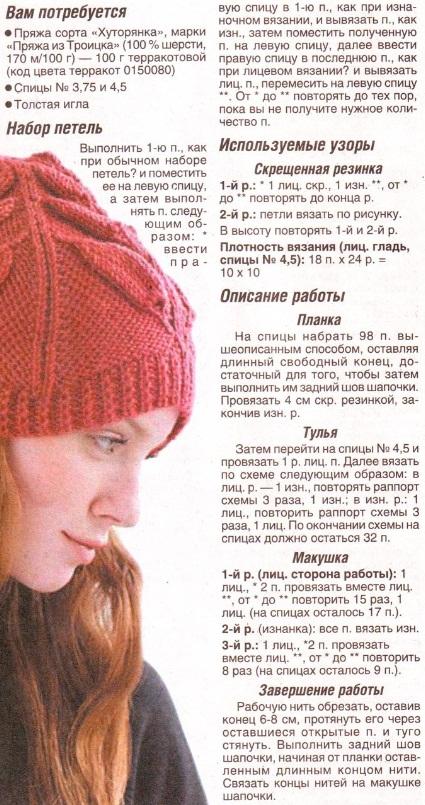 описание шапки