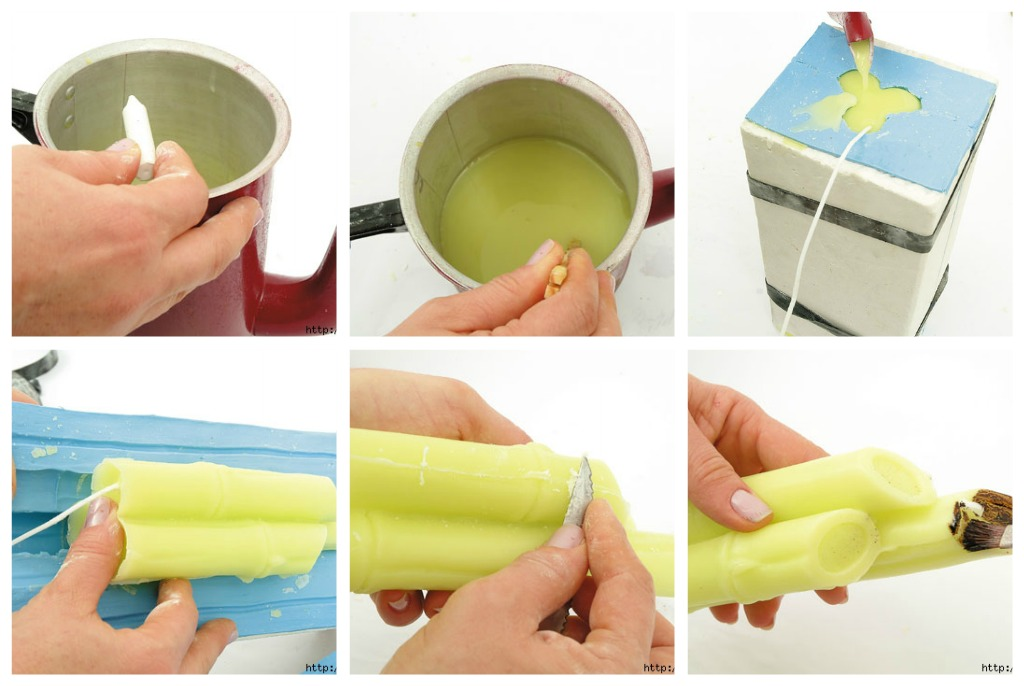 как сделать свечи бамбук