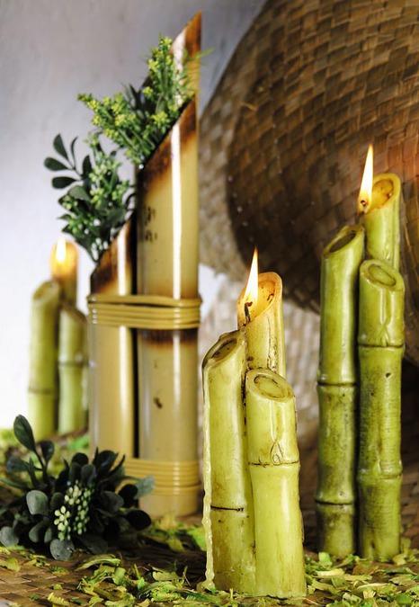 свечи бамбук
