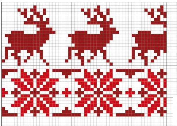 схема рождественской вышивки