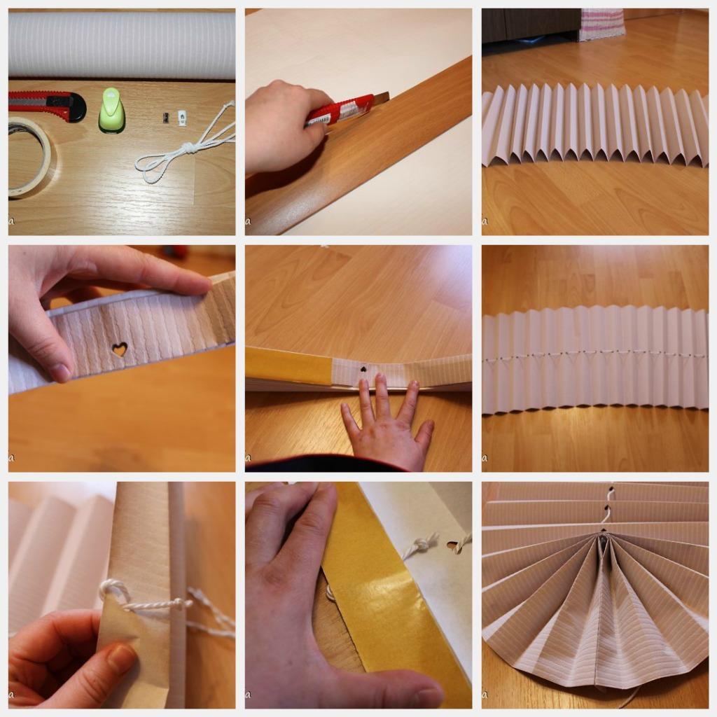 как сделать бумажные жалюзи