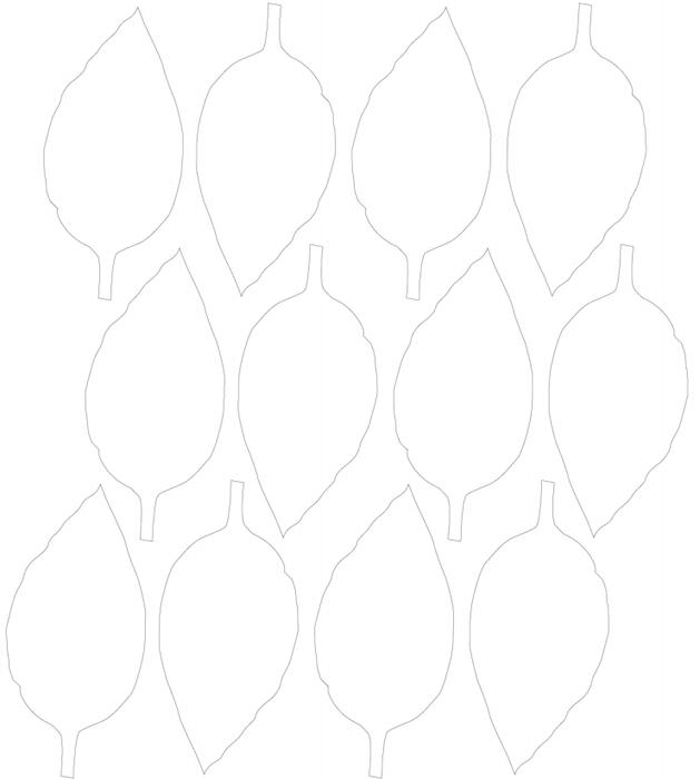 шаблон листиков