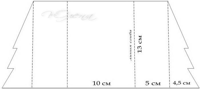 схема открытки