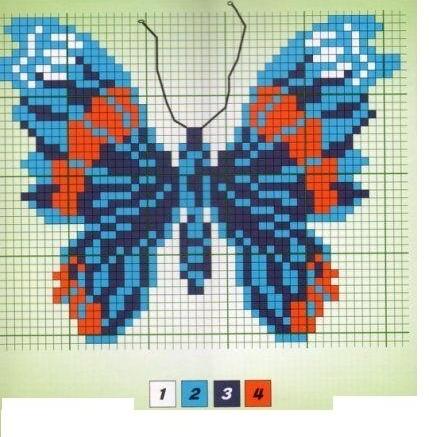 Бабочки в детской вышивке