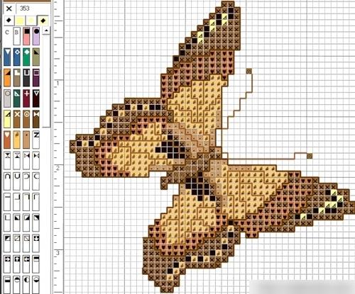 бабочка крестом
