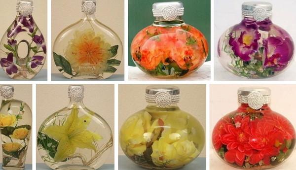 бутылки с цветами