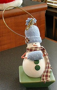 снеговики из лампочки