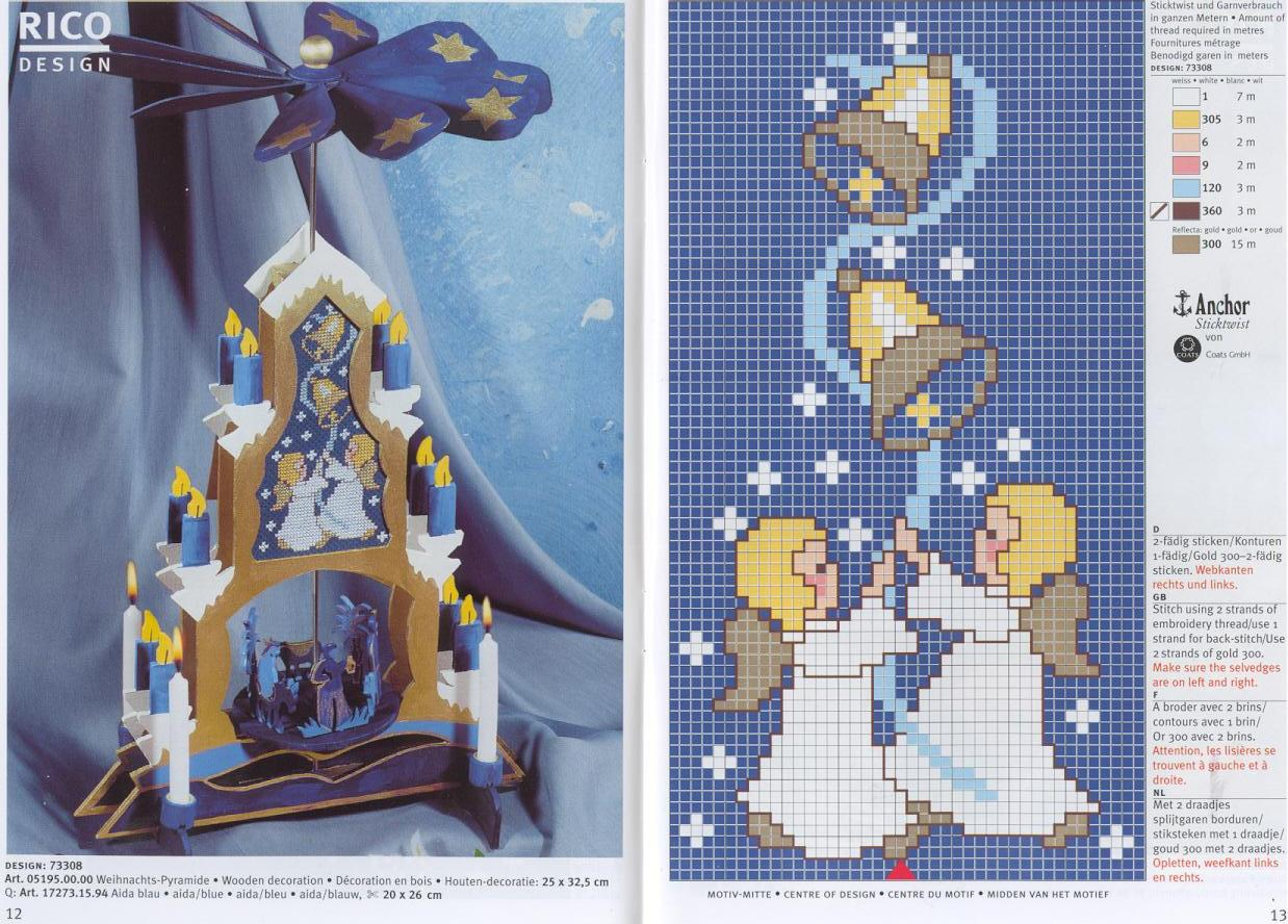 Вышивка крестом рождество 78