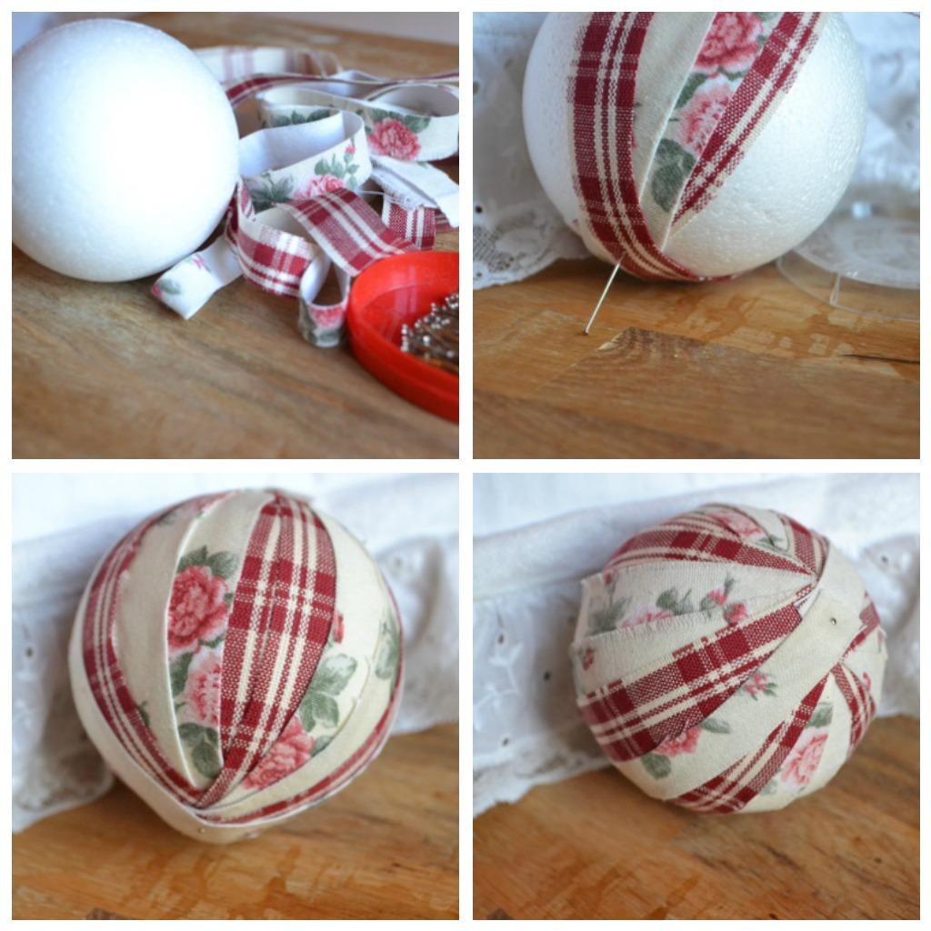 Новогодние шары из ткани своими руками фото 115